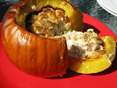 Pumpkin, Packed with Bread and Cheese