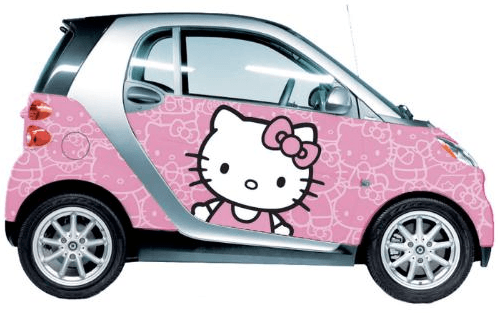 Smart Hello Kitty Car
