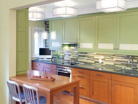 pained kitchen cabinets