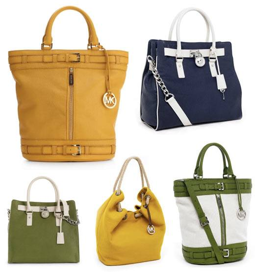 michael kors spring 2011 bags, bright color trend 2011