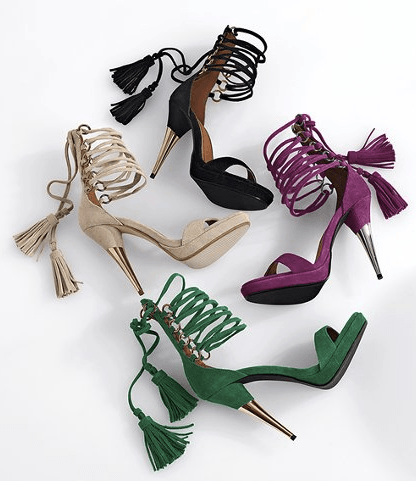 high heel tassel sandals, sexy platform shoes, trendy high heels with tassels