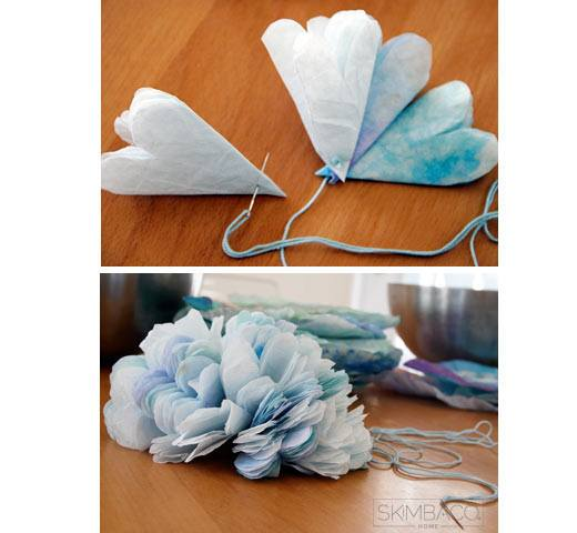 coffee filter crafts with kids, paper flower craft tutorial