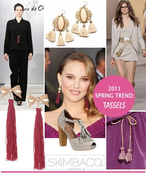 spring trends, tassels, tassel, fashion, clothing, accessories