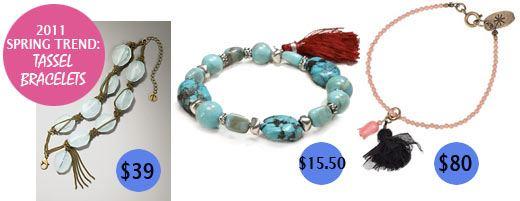 Tassel bracelets for spring 2011