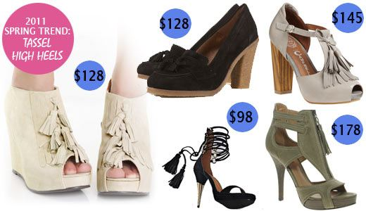Spring 2011 shoes, trendy shoes, tassel shoes