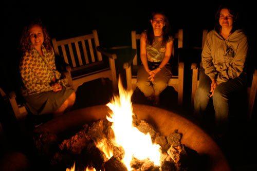 fire pits, relaxing oasis backyard fire