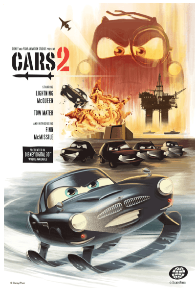 CARS 2 movie review, movie poster pictures