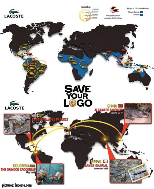 lacoste save your logo, protecting endangered species