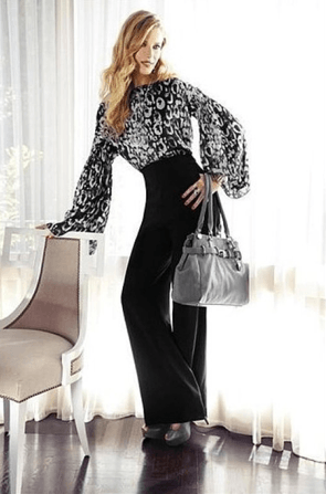 Jennifer Lopez clothing collection at KOHL's pictures, wide leg pants, bags