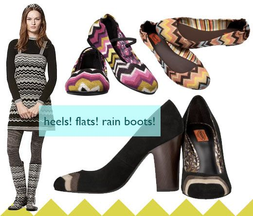Missoni for Target clothing & fashion collection Fall 2011, shoes, accessories, Missoni for Target lookbook photos