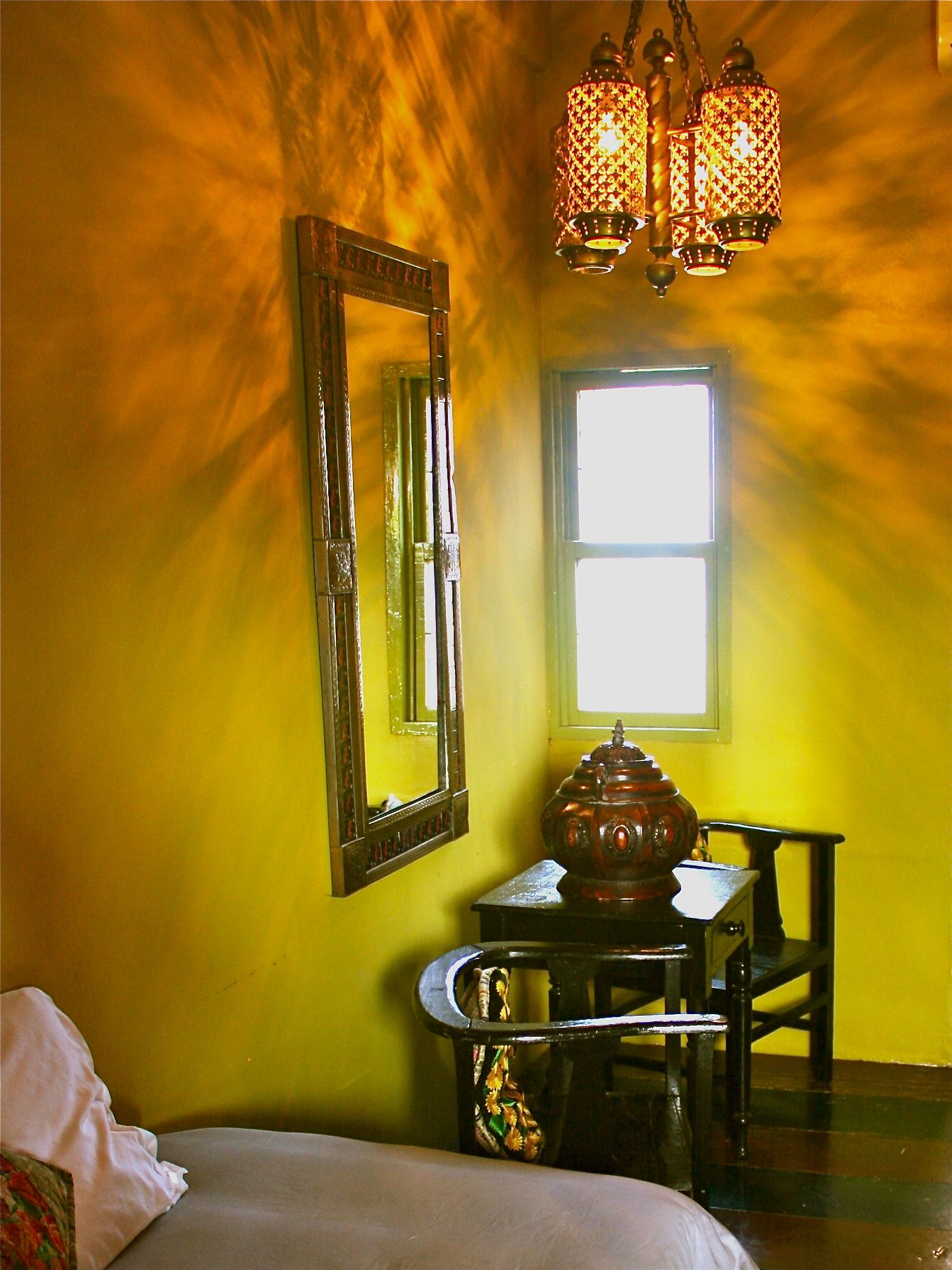 rustic Mexican lamp, Mexican decorating colors