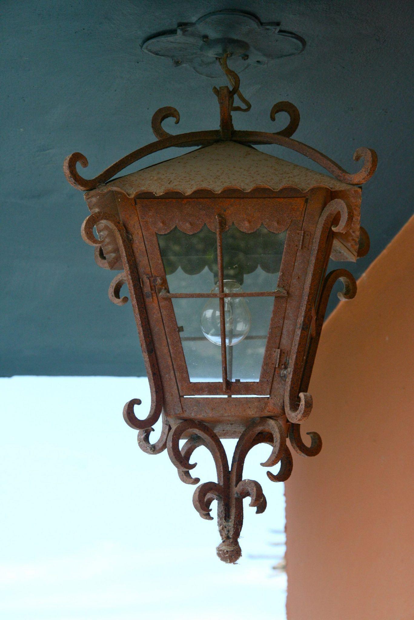 rustic lamp photo