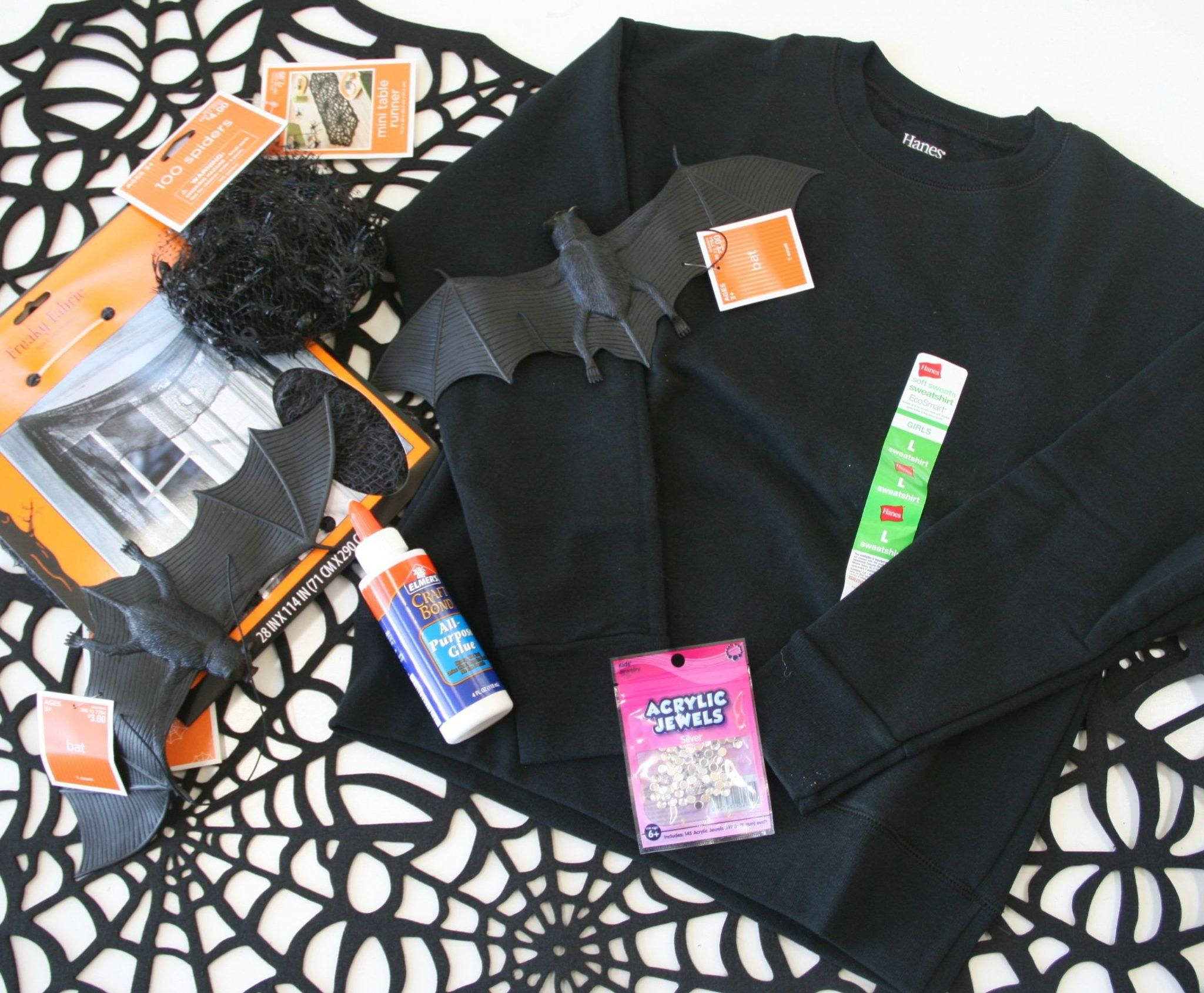 DIY halloween costume supplies, target, walmart, hanes