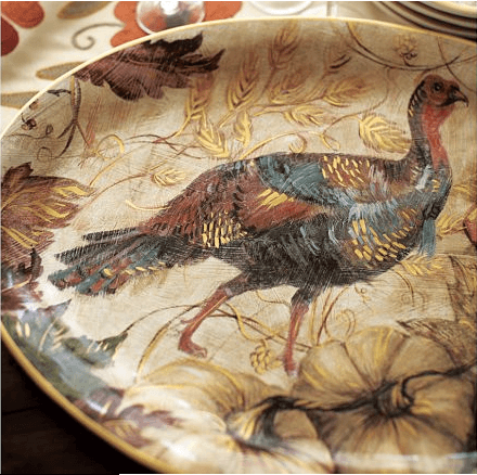 turkey serving dish for Thanksgiving