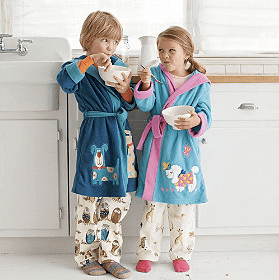 Fleece Applique Robes for Kids, bathrobes for kids, gifts for boys