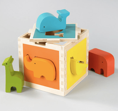 DwellStudio Zoo Shape Sorter , gifts for toddlers, baby gifts