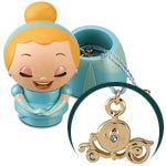 Kidada for Disney Store Wish-a-Little Cinderella Figure with Charm Necklace