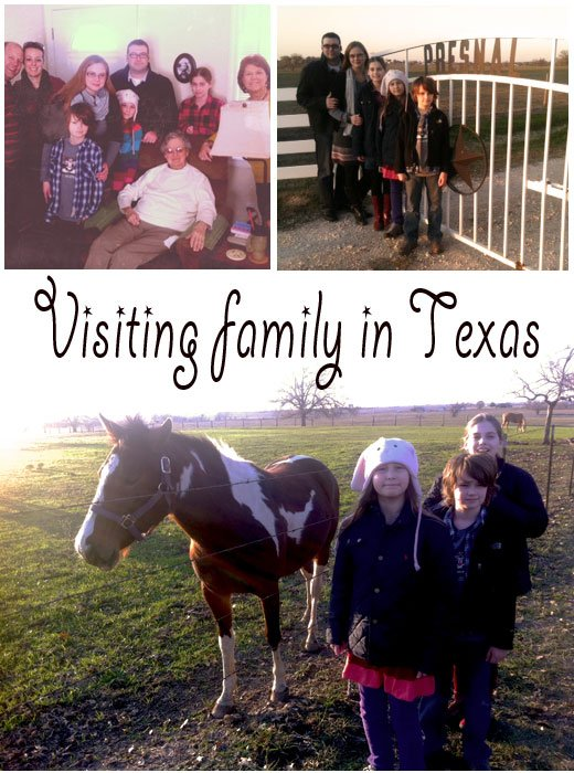 texas family, spending Christmas in texas, nomadic lifestyle