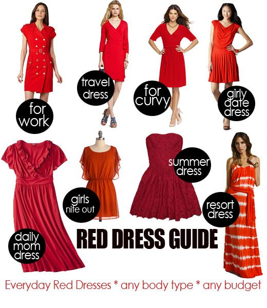 Red Dress Guide Every Day Dresses For My Body Shape