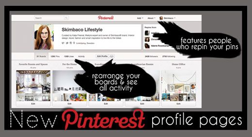 how to save the boards on the new pinterest profile page, pinterest new profile page
