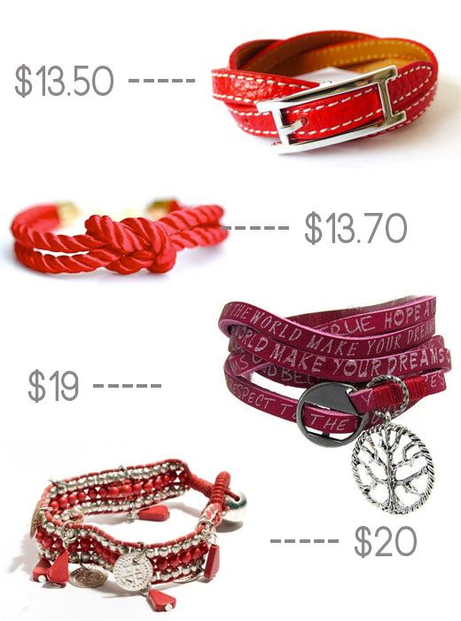 red coin bracelest, cheap bracelets, red jewelry