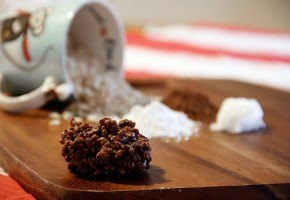 Coconut Cocoa Rice Krispie treats recipe.