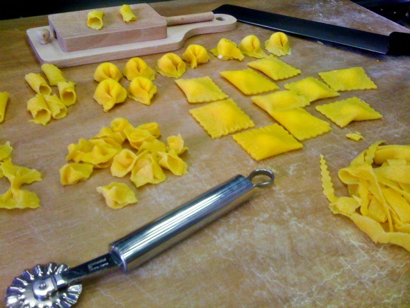 Homemade pasta at Casa Artusi as seen on https://www.skimbacolifestyle.com/2012/08/making-pasta-in-italy.html