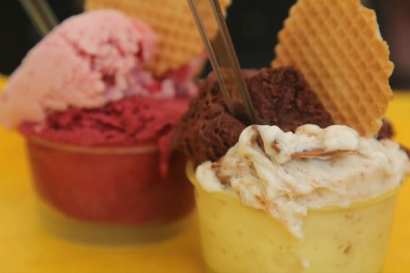 Serving of gelato, delicious Italian ice cream as seen on https://www.skimbacolifestyle.com/2012/07/visit-bologna.html
