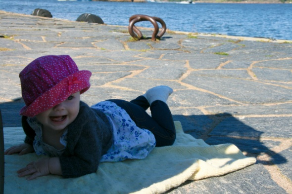 Sunny day by the sea in Helsinki, Finland as seen on https://www.skimbacolifestyle.com/2012/08/traveling-with-baby.html