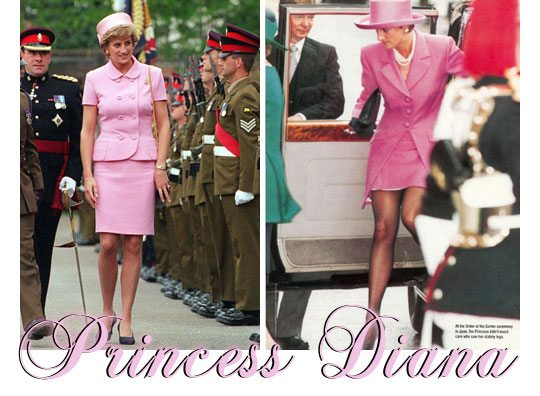 princess diana wearing pink
