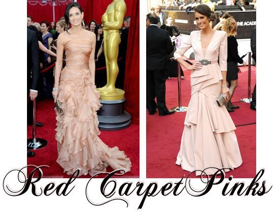 pink dresses at Oscars, Demi Moore, Louise Roe pink dress