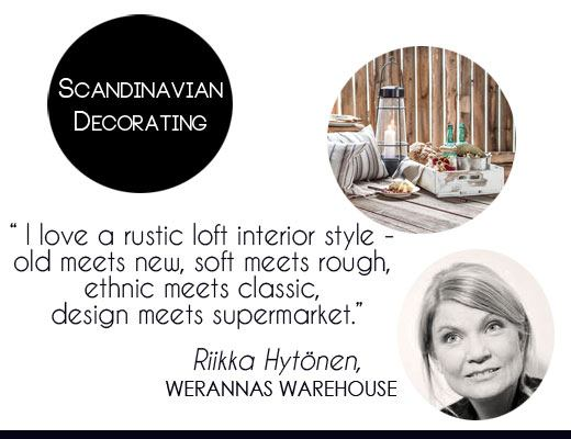 Scandinavian natural home decorating style tips, rustic home decor