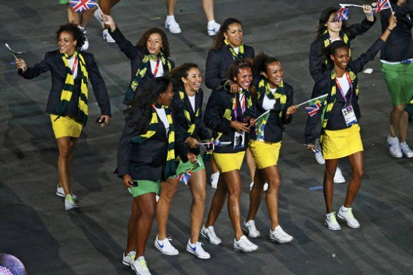 olympics fashion, the team Brazil in the London 2012 Opening Ceremony