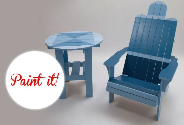 Weekend DIY Project: Nautical Adirondack Chair Paint Job   Skimbaco  Lifestyle | Online Magazine