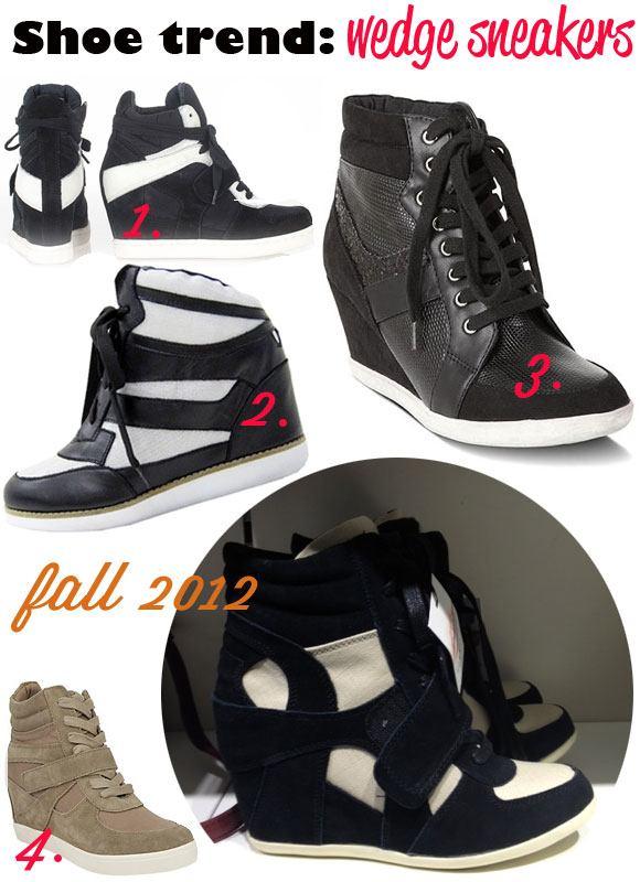 wedge sneakers, fall 2012 shoe trends, high heels sneakers