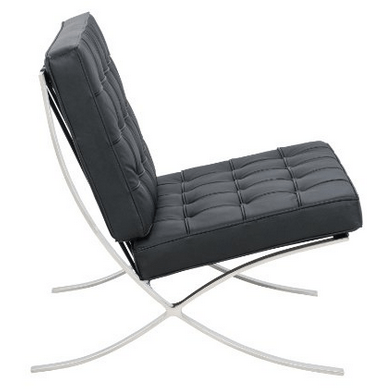 Modern design classic: Barcelona chair. This replica is 90% off the original price!