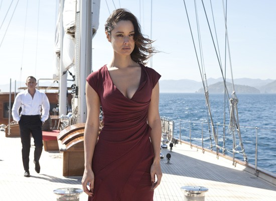 photo of James Bond and Severine, Skyfall movie review