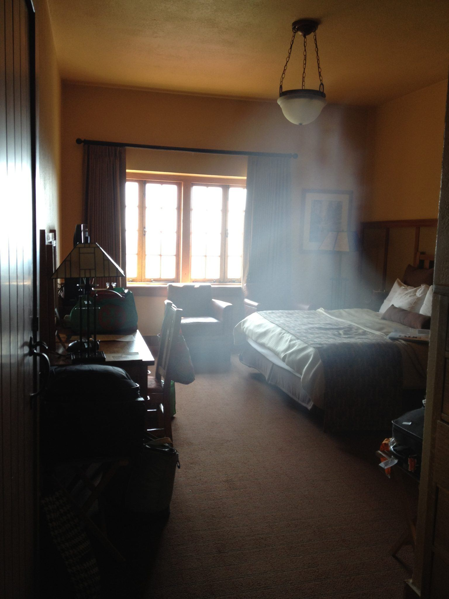 Guests took a photograph of The Pink Lady in their room.