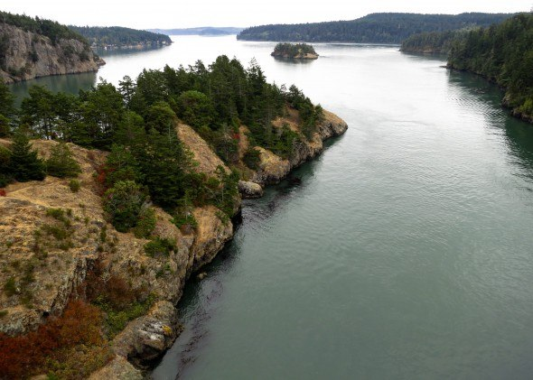 View from Bridge at Deception Pass, Seattle Washington