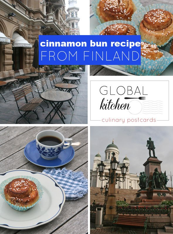 global kitchen: cinnamon bun recipe from Finland