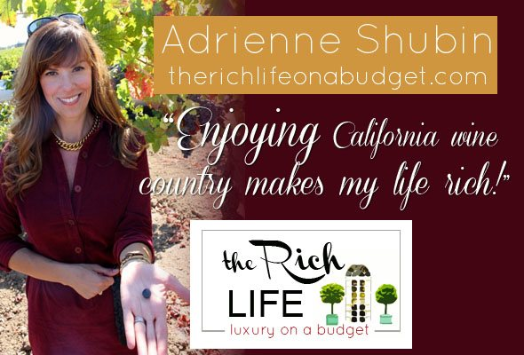 The Rich Life by Adrienne Shubin, luxury lifestyle for less, live better, California lifestyle, luxury lifestyle