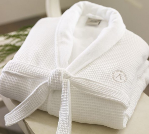 Monogrammed Waffle Weave  Spa-type Robe