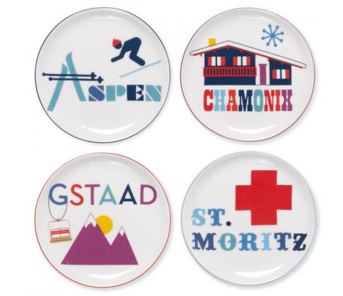 jet set coasters, Jonathan Adler, coaster, apres-ski themed gifts, holiday gifts for skiers, jet set lifestyle