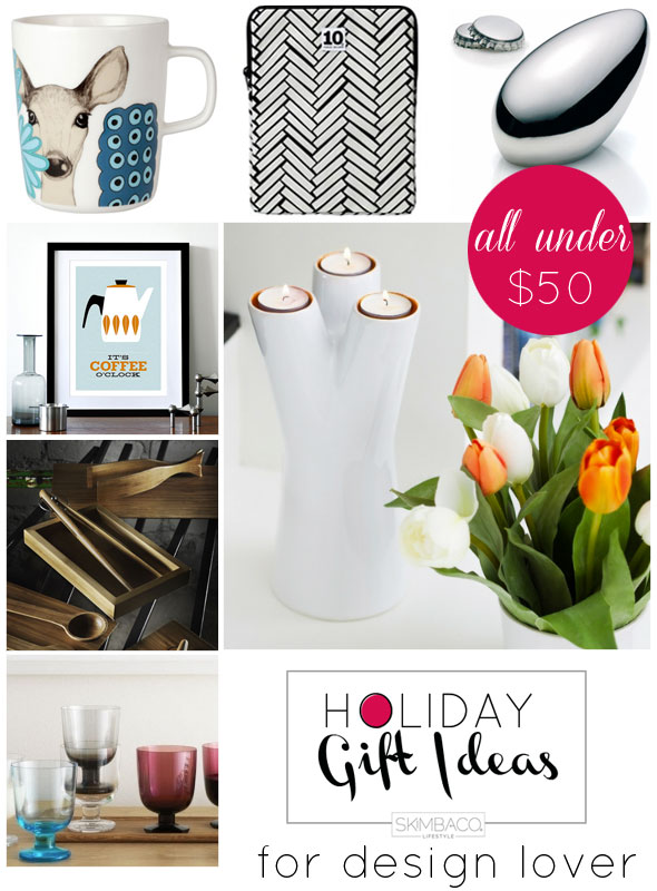 design gifts for under 50 bucks, christmas gifts, holiday gifts