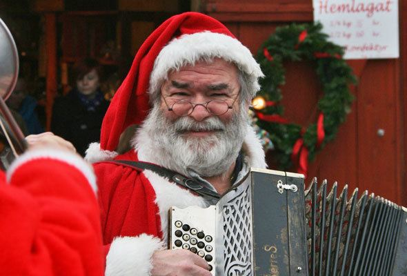 Scandinavian Christmas spirit in the Ekenäs Castle Christmas market in Linköping, Sweden.