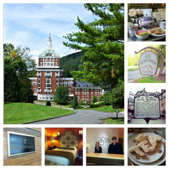 Homestead Resort,  Ritz-Carlton Charlotte, Mast Farm Inn, Ballantyne Hotel and Lodge, and the Hotel Roanoke