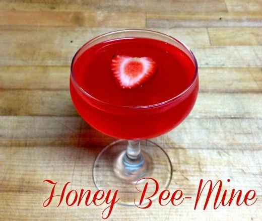 valentine's day cocktail: honey bee-mine