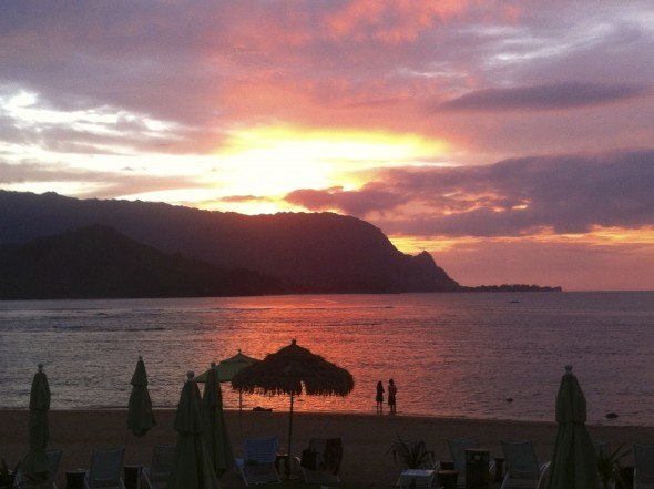 Sunset from St. Regis Princeville, Kauai