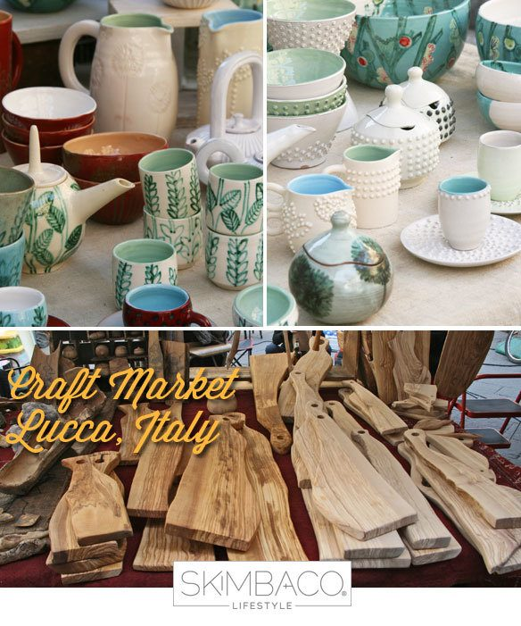 artisan products from the craft market in Tuscany
