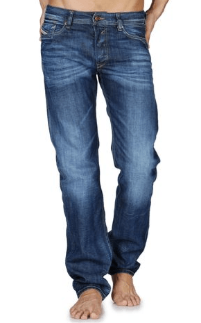 diesel straight leg jeans for men